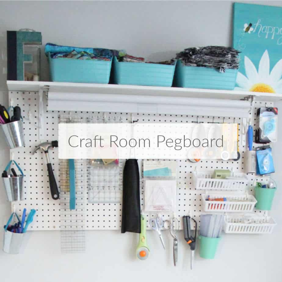 Use A Pegboard To Organize Craft Supplies Domestic Deadline