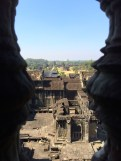 A view from out of one of the central towers