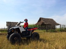 Taking a break from temple touring, Cian and I rented a quad