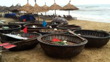 Traditional round fishing boats