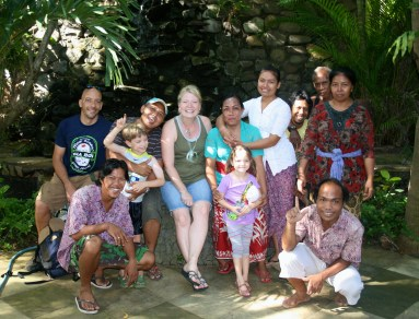 With our Balinese family