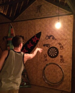 Darts, of course