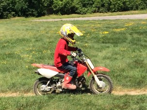 Last summer Cian had his first dirt bike lesson