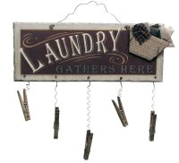 Clothespin Laundry Sign Wall Art | Domestic Divas Coupons