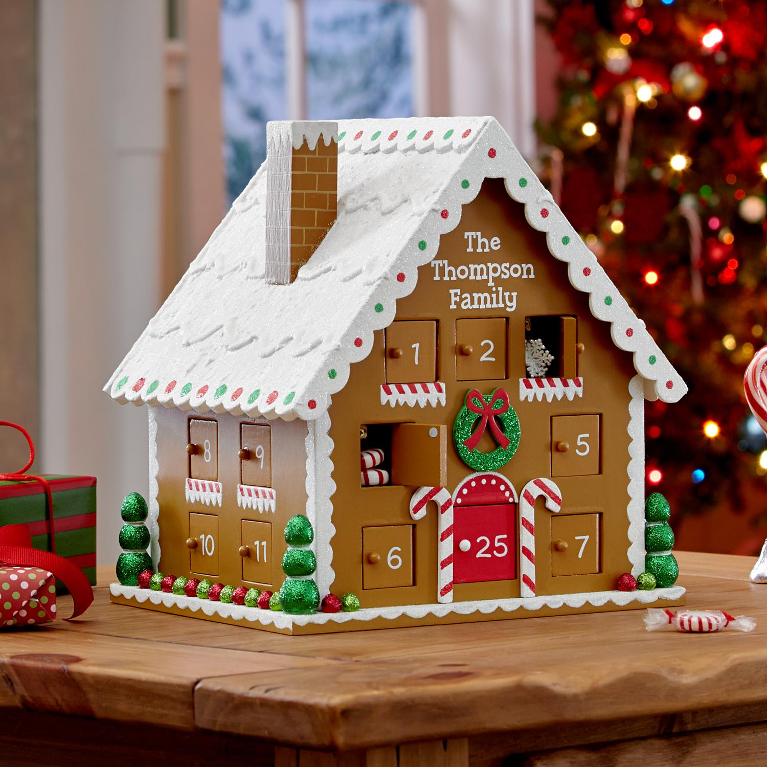 Personalized Gingerbread House Advent Calendar Domestic