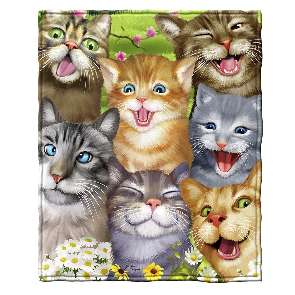 Cats Selfie Fleece Throw Blanket Domestic Divas Coupons