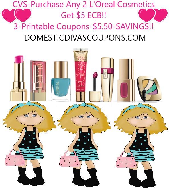 CVS Purchase Any 2 LOreal Cosmetics Get 5 ECB