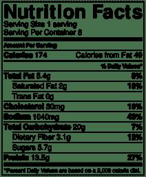 Italian sausage soup nutrition info
