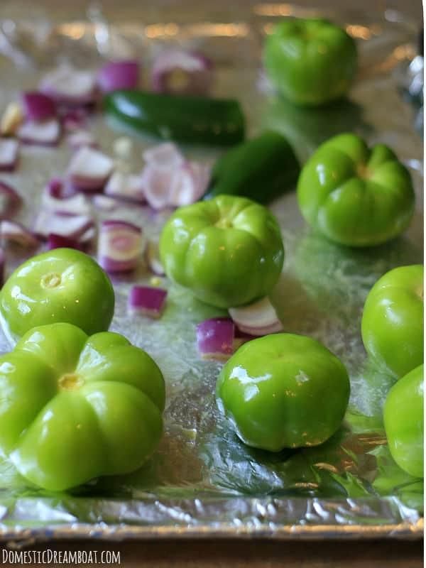 Tomatillo salsa - fresh veggies