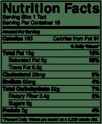 Butter tart nutrition info