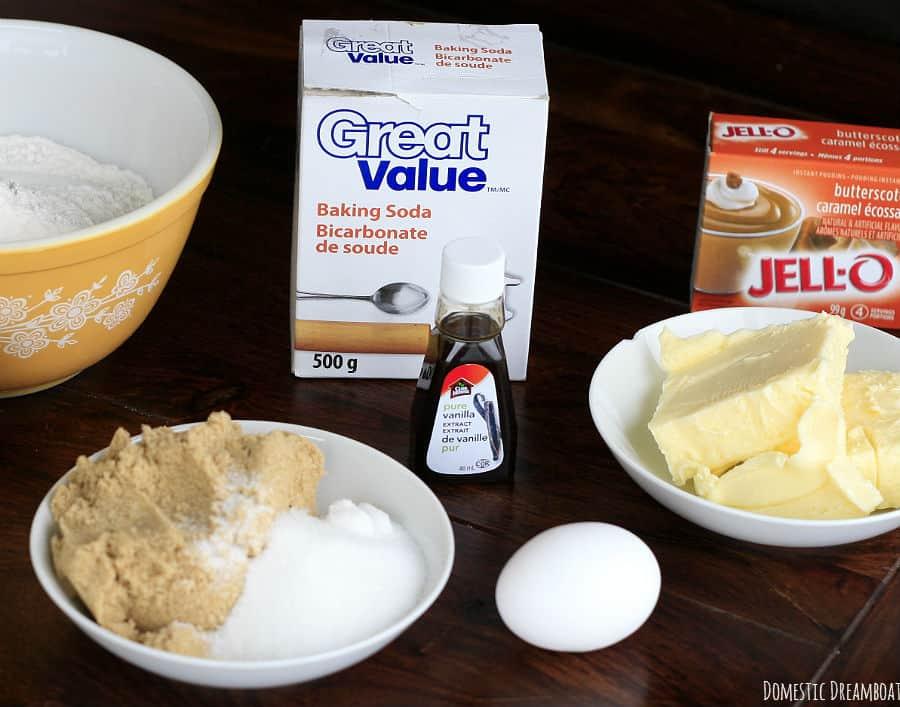 Butterscotch cookie ingredients