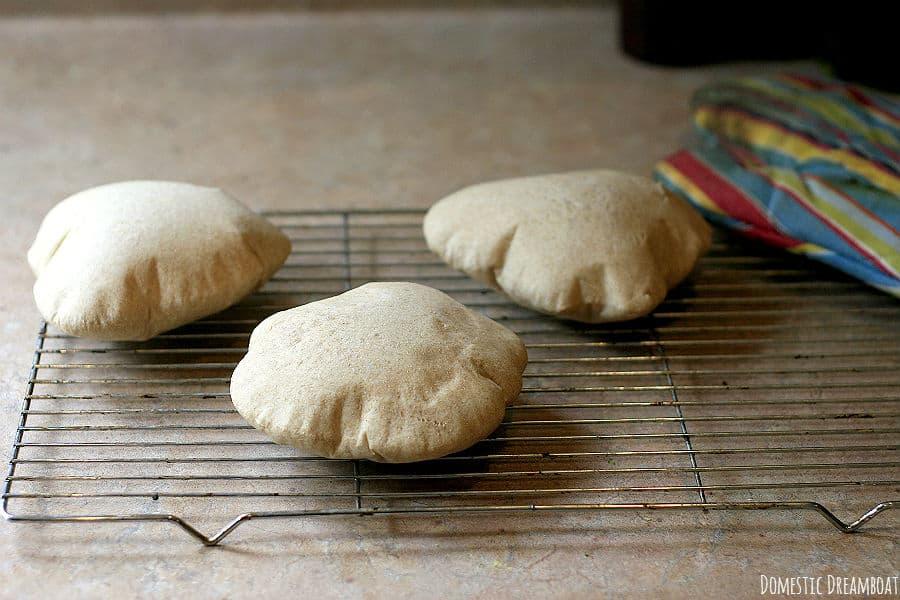 Fresh baked pitas
