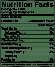 dinner roll nutrition info