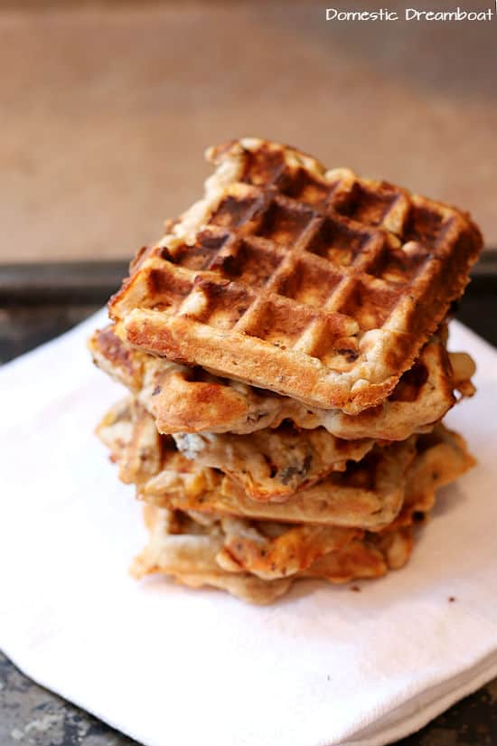 Savory Sausage and Cheese Waffles