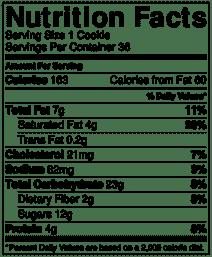 nursing cookie nutrition info