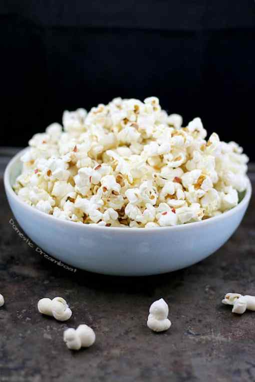 Anchovy Butter Popcorn with Chili Flakes
