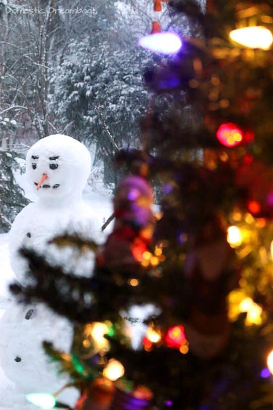 Backyard Snowman