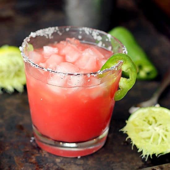 Spicy Watermelon Jalapeno Margarita