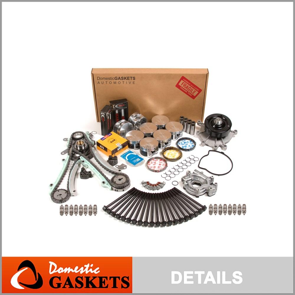 medium resolution of fits 02 03 dodge dakota durango ram 1500 4 7 master overhaul engine rebuild kit