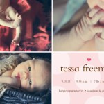 Baby Tessa's Birth Announcements