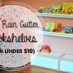 DIY Rain Gutter Bookshelves (For Under $10!)