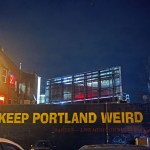 Powell's Books and Voodoo Donuts in Portland, Oregon