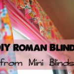 DIY Roman Blinds from Mini Blinds