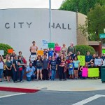 Rally for Miniature Goats at City Hall in Visalia