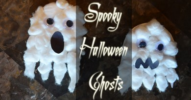 Crafts for Toddlers – Spooky Halloween Cotton Ball Ghosts