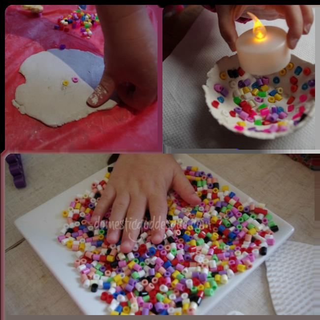 hama bead clay bowl