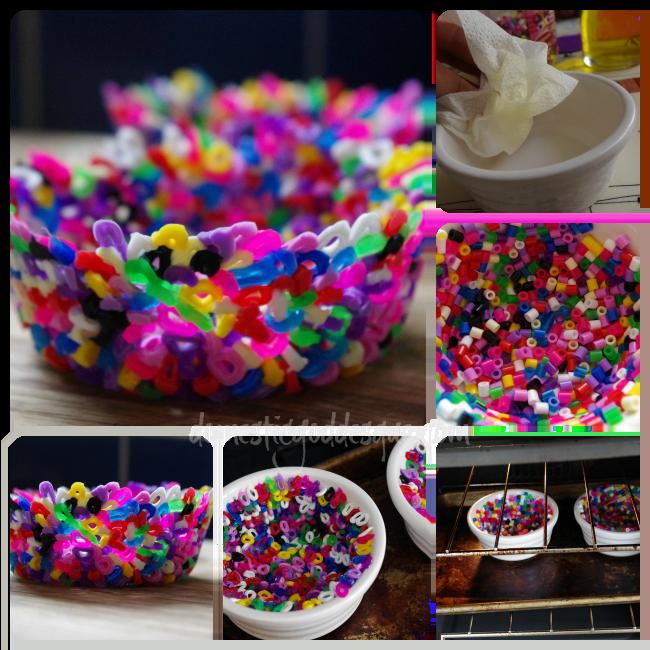 melting hama bead bowl