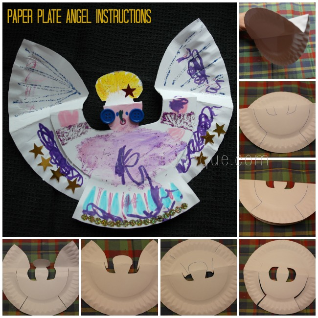 Paper Plate Angel instructions