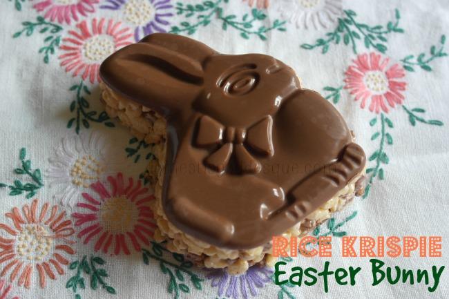 Chocolate Rice Krispie Easter Bunny Treat