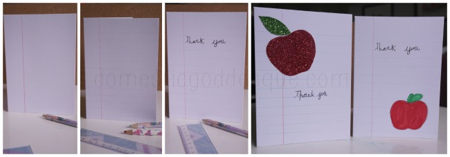 Quick Easy thank You Teacher Card