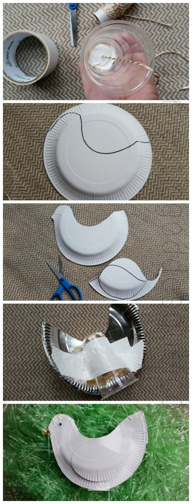 how to make a plastic cup clucking chicken paper plate