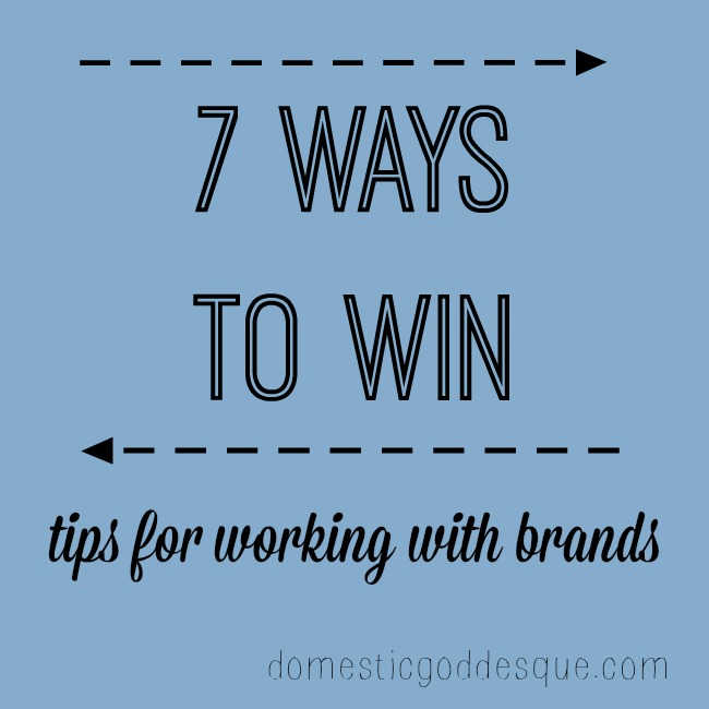 7 ways to win tips for working with brands