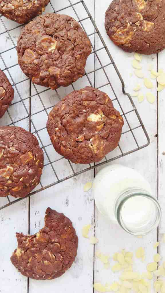 almond double chocolate cookies
