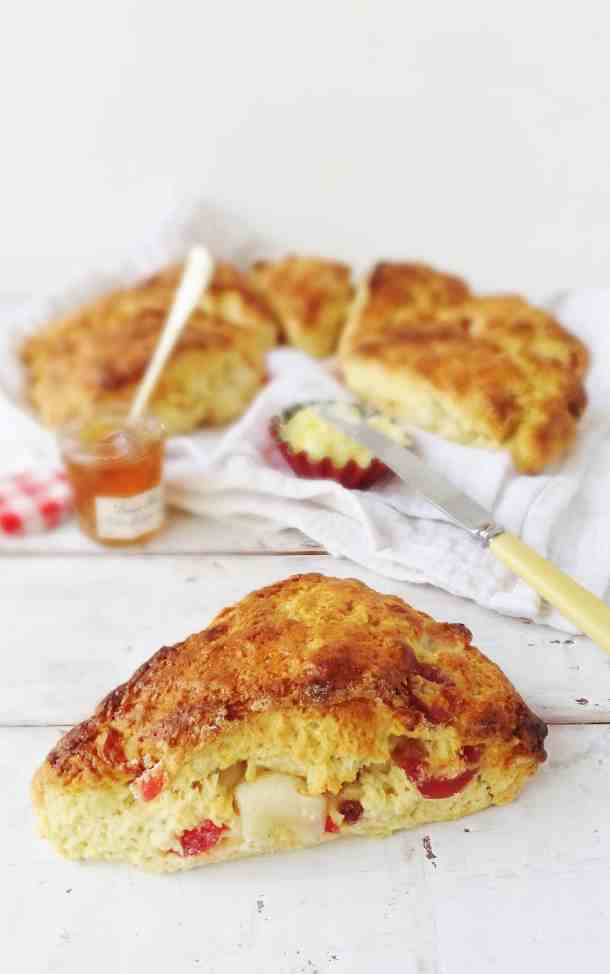 Cherry marzipan scones - Domestic Gothess