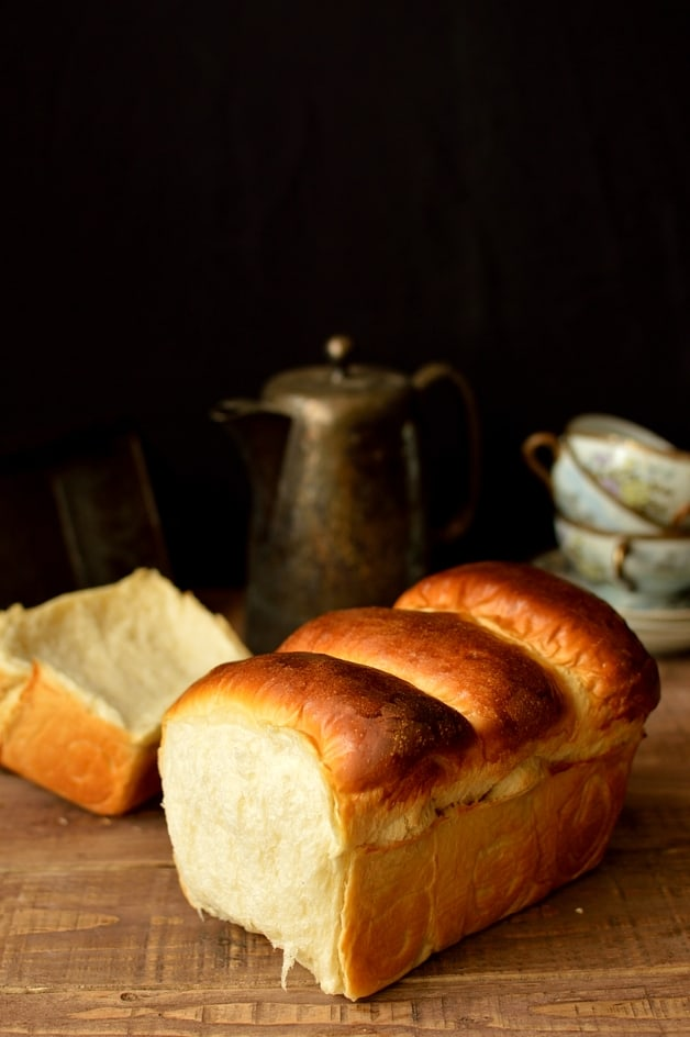 Hokkaido milk bread, soft, fluffy bread made with tangzhong - Domestic Gothess