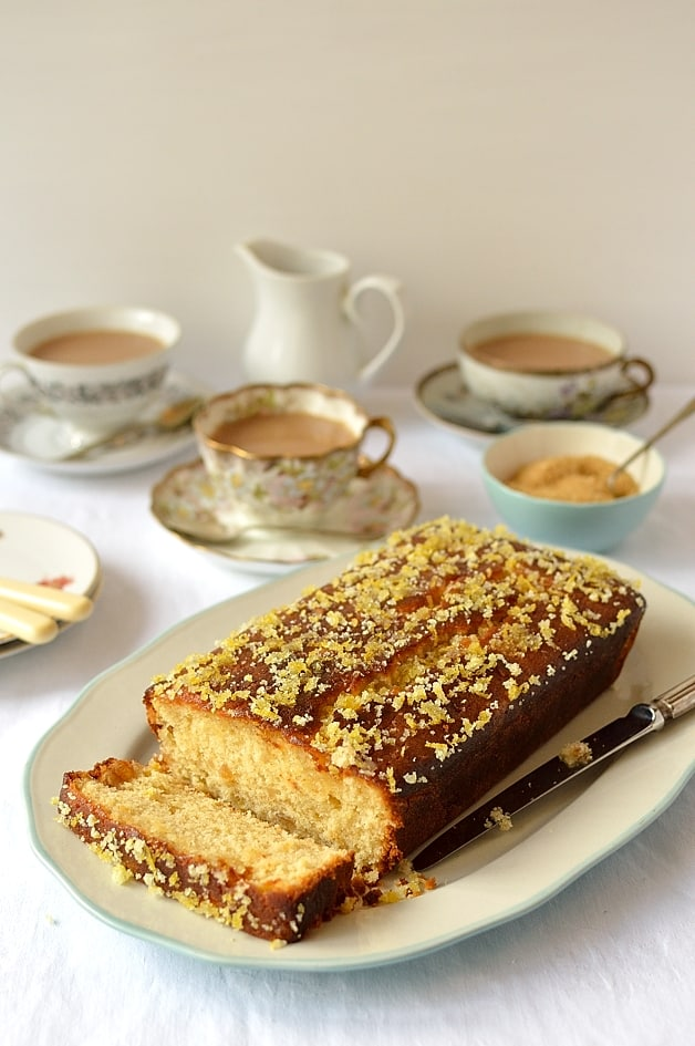 Lemon and ginger drizzle cake - Domestic Gothess