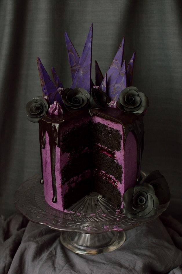 Chocolate Damson Cake