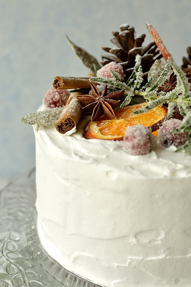 Gingered Christmas Fruitcake With Rustic Decorations ...