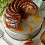 Banana rum caramel bundt cake - moist banana cake with banana rum caramel sauce
