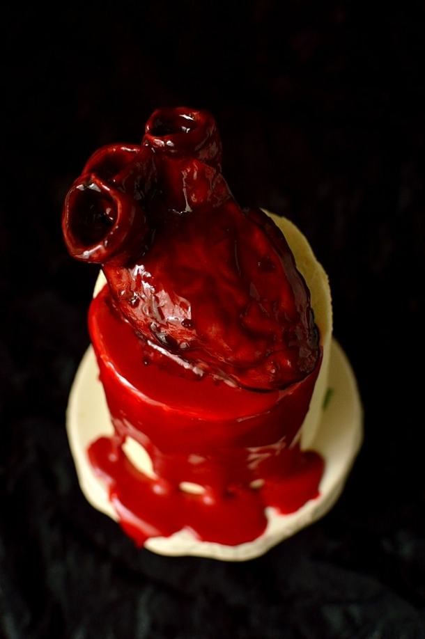 Mini Bleeding Heart Halloween Cakes Domestic Gothess