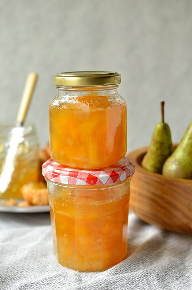 Pear and ginger jam - small batch, no added pectin, a great Christmas gift.