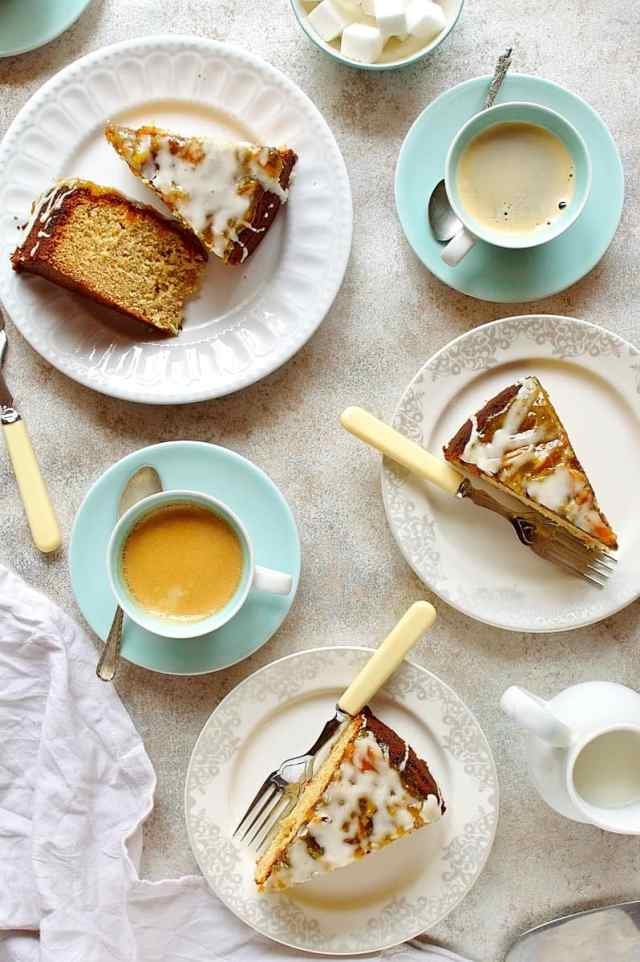 Marmalade and ginger cake - soft, moist cake made with marmalade and fresh ginger