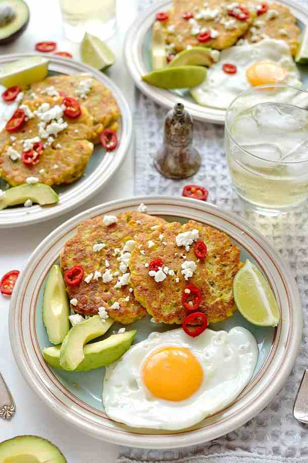 Sweetcorn and feta fritters - a quick and easy meal that everyone will love!