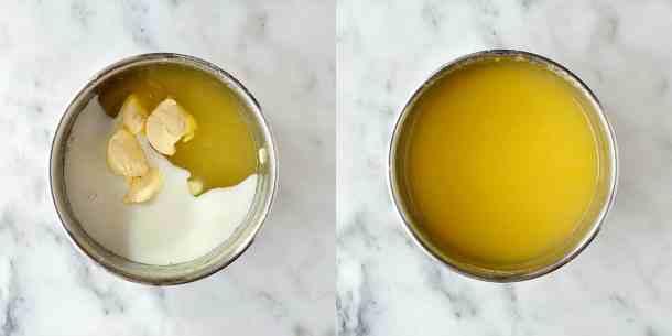 vegan lemon curd step 3