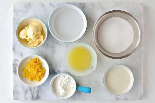 Vegan lemon curd ingredients