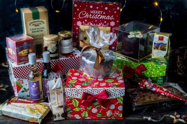 Bradfords Christmas party parcels hamper